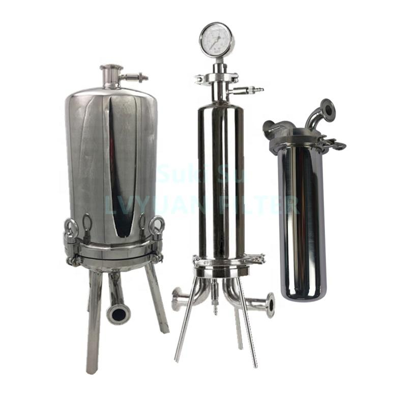5 10 20 30 inch Large Flow Rate Distilled Alcohol Filter SS Cartridge Filter Housing for chemicals Pharmaceutical beverage