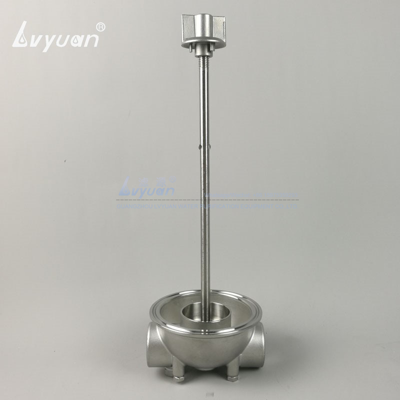 High pressure clamp connection 40 inch stainless 304 316L steel industrial SS housing with pleated glass fiber cartridge filter