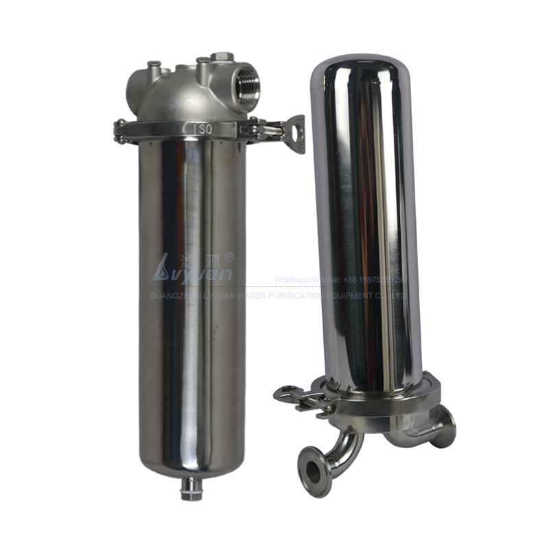 10/20/30/40 inch stainless steel cartridge filter housing ss316 with pleated cartridge filter 5 micron