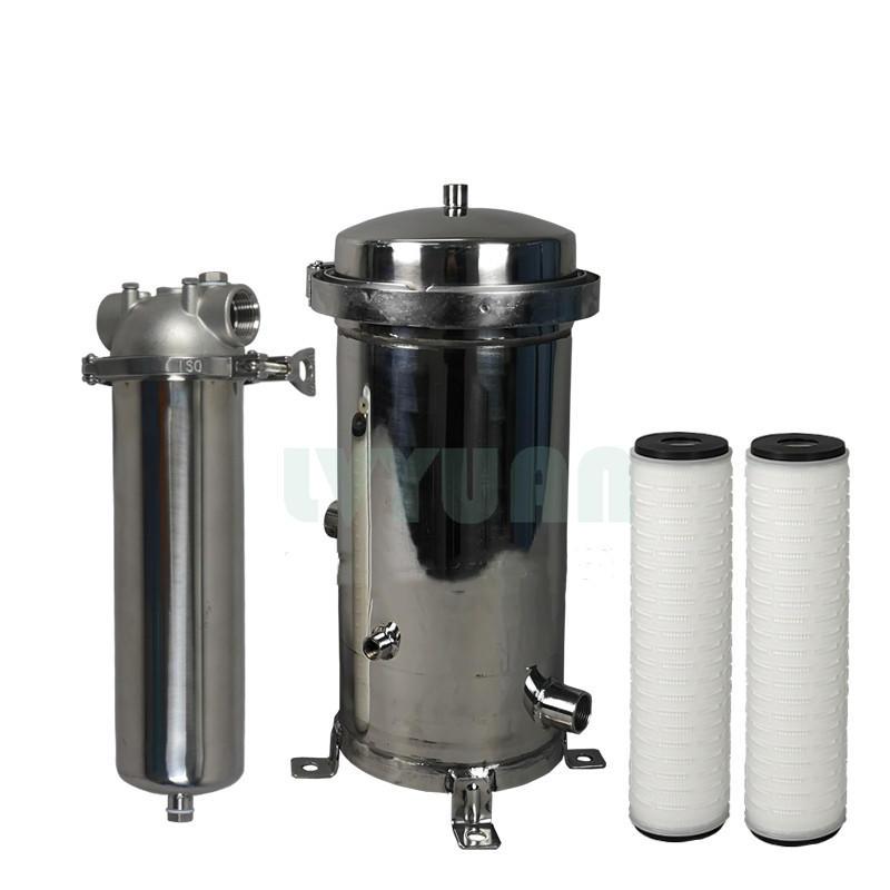 Cartridge filter housing series 316L stainless steel clamp filter housing