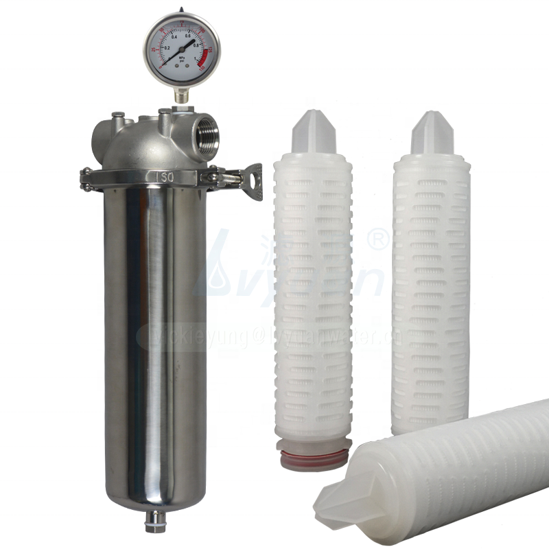 Stainless steel 304 316L 10 inch micro precision cartridge water filter housing for water purifier filtration system