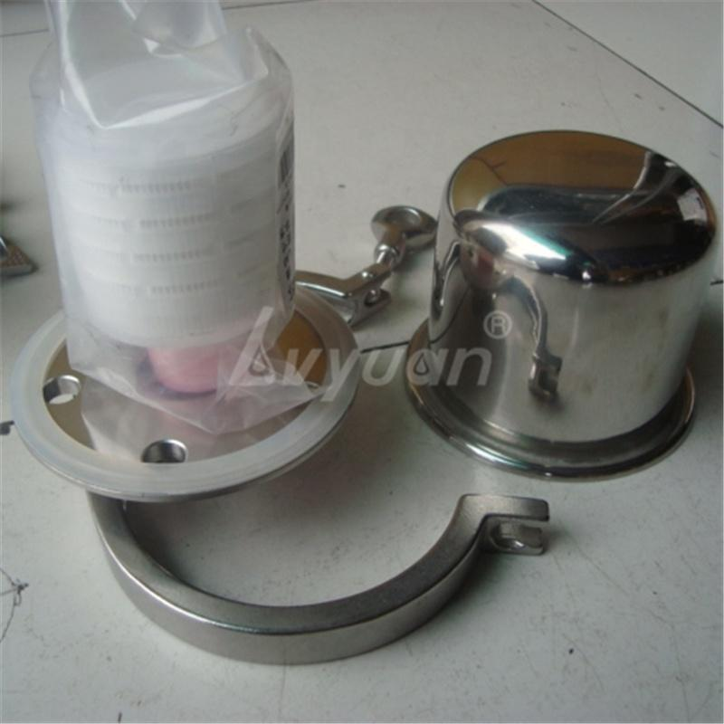 Flange Clamp Customization 0.2 micron filter compressed air Dryer filter housing with 2.5/5/10/20/30 inch Cartridge