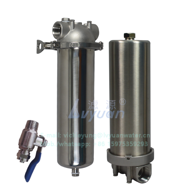 Industrial water purification stainless steel 304 316L water filter housing 10 inch with PP water filter cartridge element