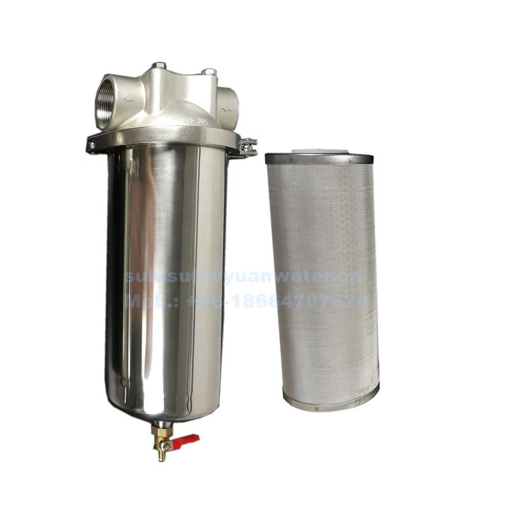 Tri-clamp Large Flux Cartridge Big Blue Pre Water Purifier Filter Housing Stainless Steel with drain port