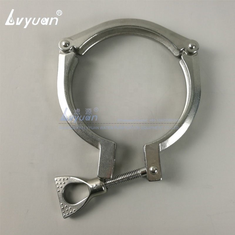 Wholesale single clamp stainless steel SUS316L 20 inch filter housing 316 for wall-mounted water pipe pre treatment