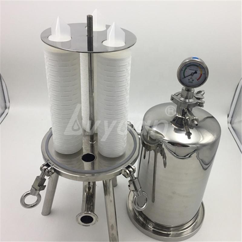 Food Grade depth final water wine purification Sanitary Stainless Steel housing 0.1 0.2 0.22 0.45 0.5 micron Cartridge Filter
