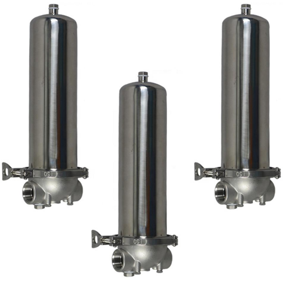 10 inch single cartridge filter housing pipe water filter/ stainless steel 304 316 filter housing for water filtration