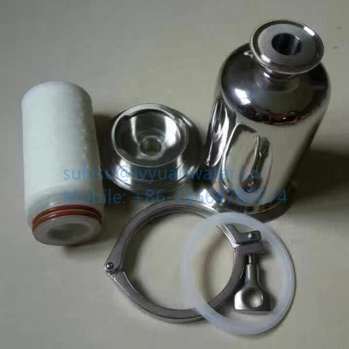 0.1 0.2 micron Stainless Steel Compressed Air Gas Filter with PTFE cartridge