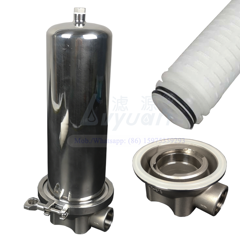 New type single 226 code 10 inch SS304 316L liquid cartridge water filter housing for home/commercial water filtration