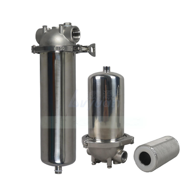 Industrial ss 304 316 316L Stainless Steel Cartridge Filter Housing with 10'' 20'' 30'' 40'' Length