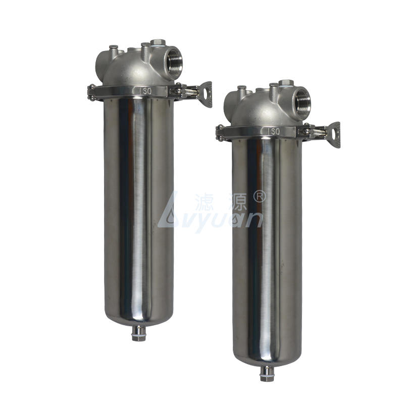 High quality clamp 10 20 inch 304 single stainless steel filter cartridge housing for 5 micron liquid water filter
