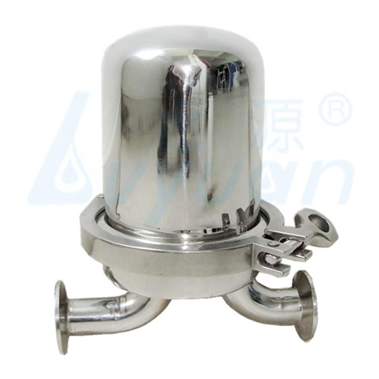 PTFE single cartridge filter sanitary stainless steel 304 316 lenticular filter housing for gas and liquid filtration
