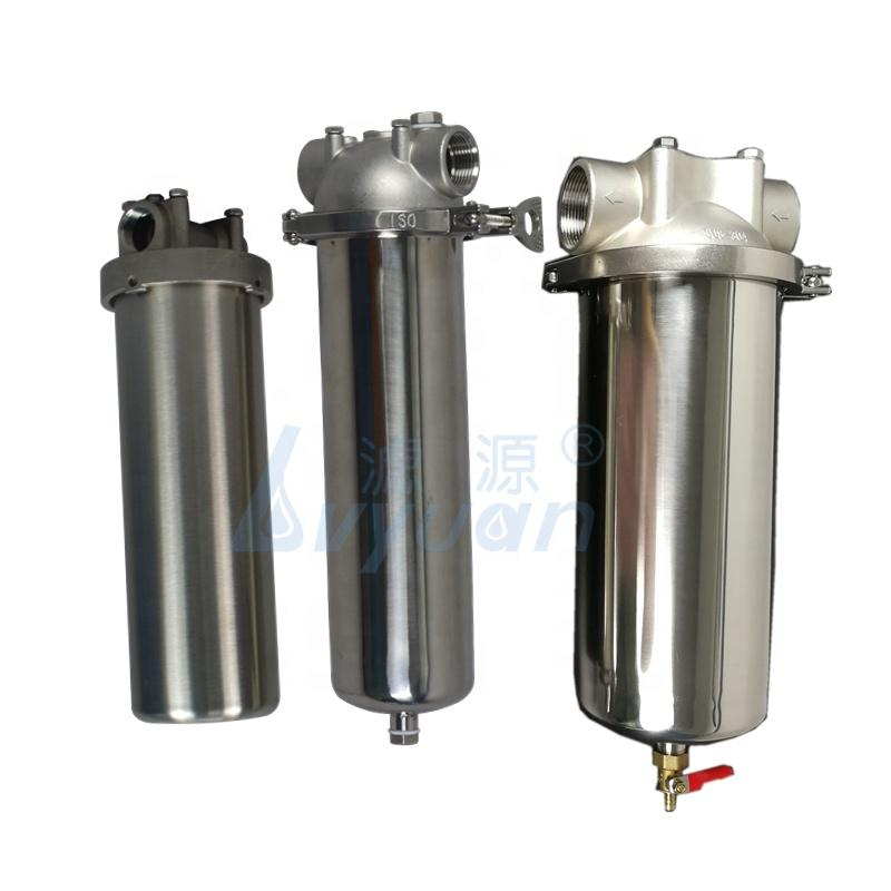 SS SUS304 ss316L Stainless Steel water filter housing 10 inch with 20'' 30'' liquid purifying cartridge filters vessel factory