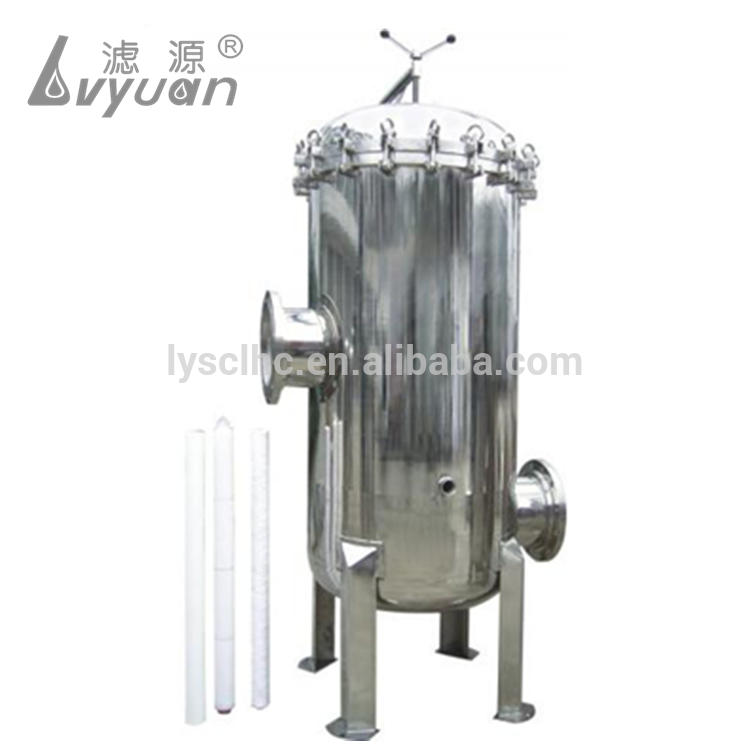 Stainless Steel Cartridge filter housing in Water Treatment Micro filter for RO plant