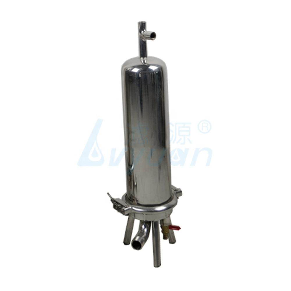 ss 304 316 food grade stainless steel 10'' 20'' filter housing with cartridge filter for water filtration