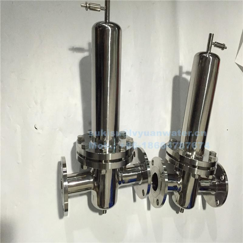 Sanitary Tri clamp 10 20 30 inch Stainless Steel Steam triclamp filter housing for compressed steam air gas water purifying