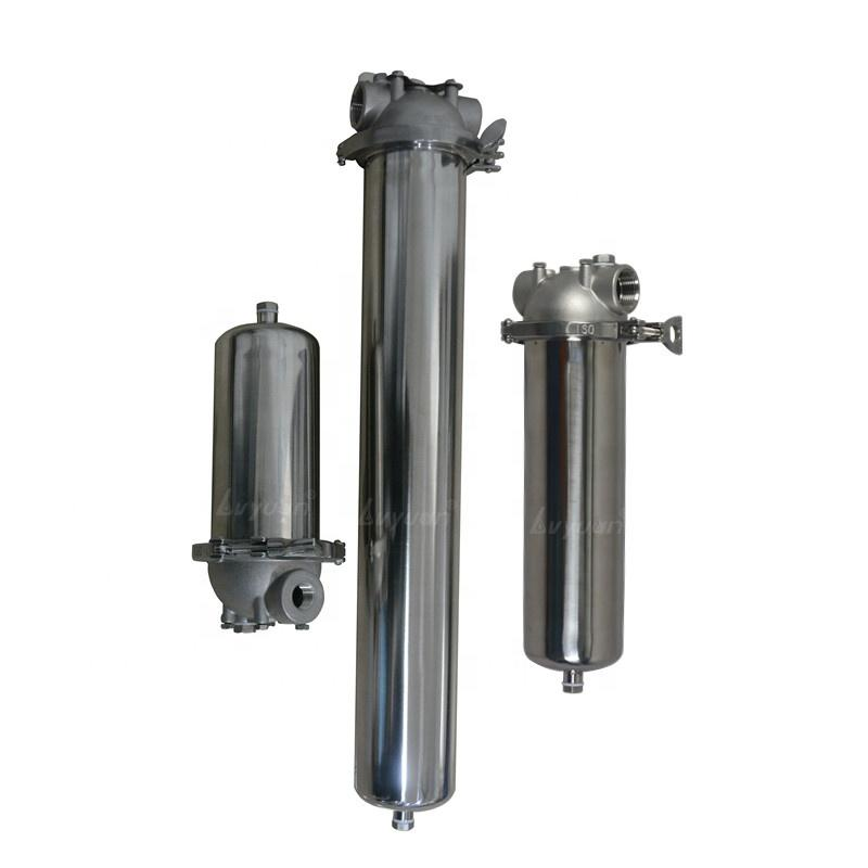 5/10/20/30/40 Inch Pipeline Stainless Steel Single cartridge Filter Housing for Water Treatment