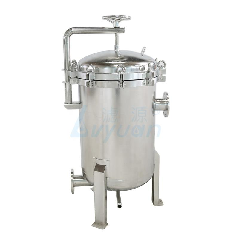 Factory Supply Large Capacity ss304 ss316 Stainless Steel Liquid Cartridge Filter Housing filter water