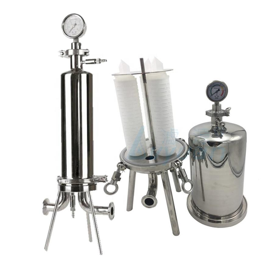 SS304 316L standing legs support Electrolytic polishing flanged 10 20 inch stainless steel wine filter housing