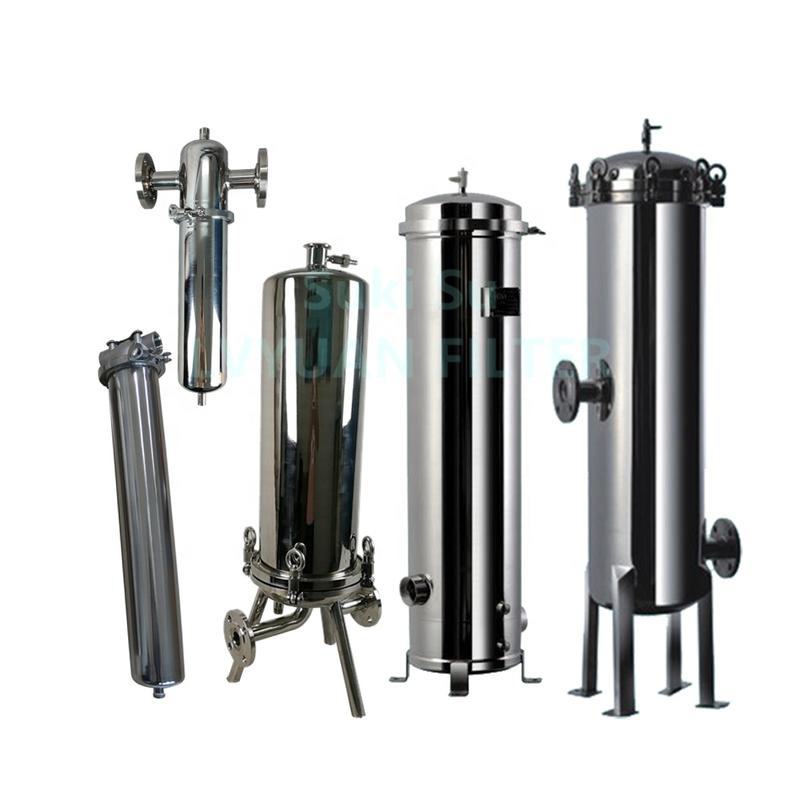 Multi Round cartridge filtration tank for cartridges filter housing SS 304 316L Single core element air liquid beer filters