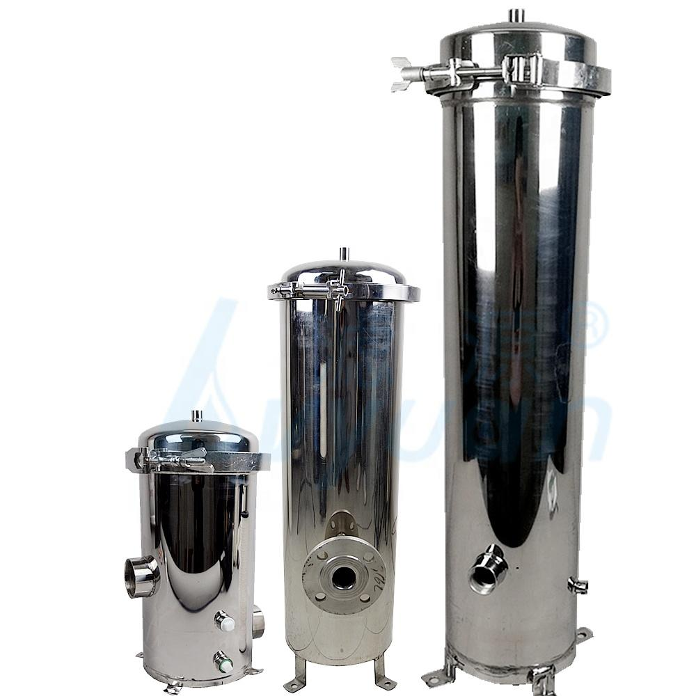 water treatment water pre filtration stainless steel water filter housing cartridge filter