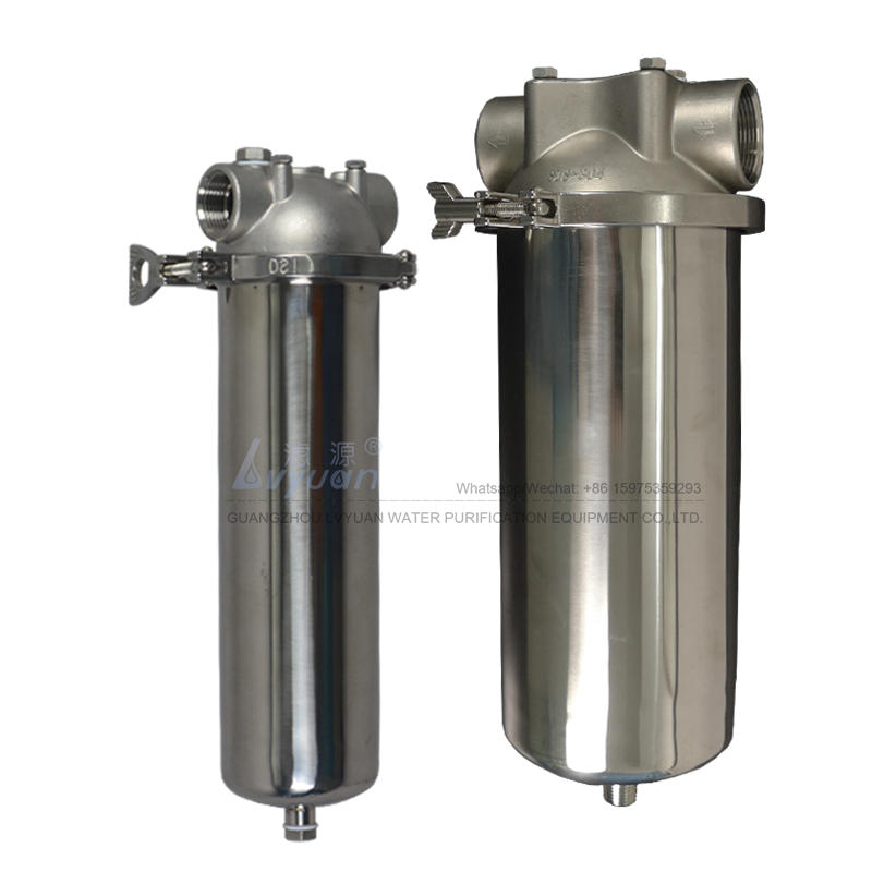 10/20/30/40 inch 304 316L single one (1) candle filter elements water filter housing stainless for liquid sediment filter
