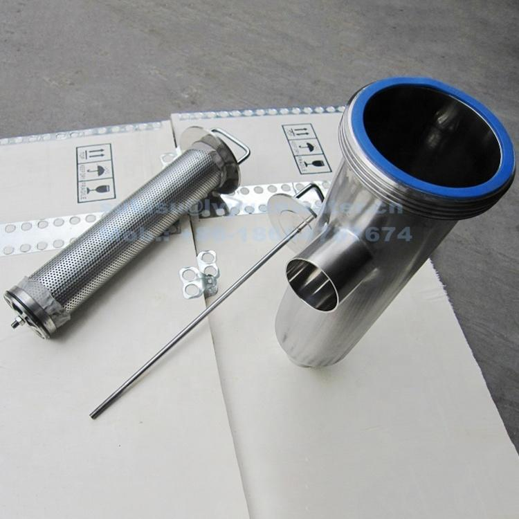 Guangzhou Factory Sanitary Tri-clamp SS 316L 304 Tube stainless steel dairy inline pipe filter housing for milk filter