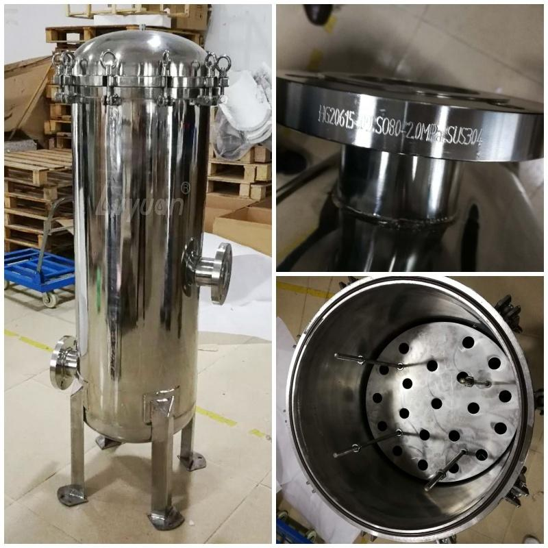 Stainless Steel 316L 304 multi cartridge filter vessel for PP Activated Carbon Commercial Industrial water liquid filtration