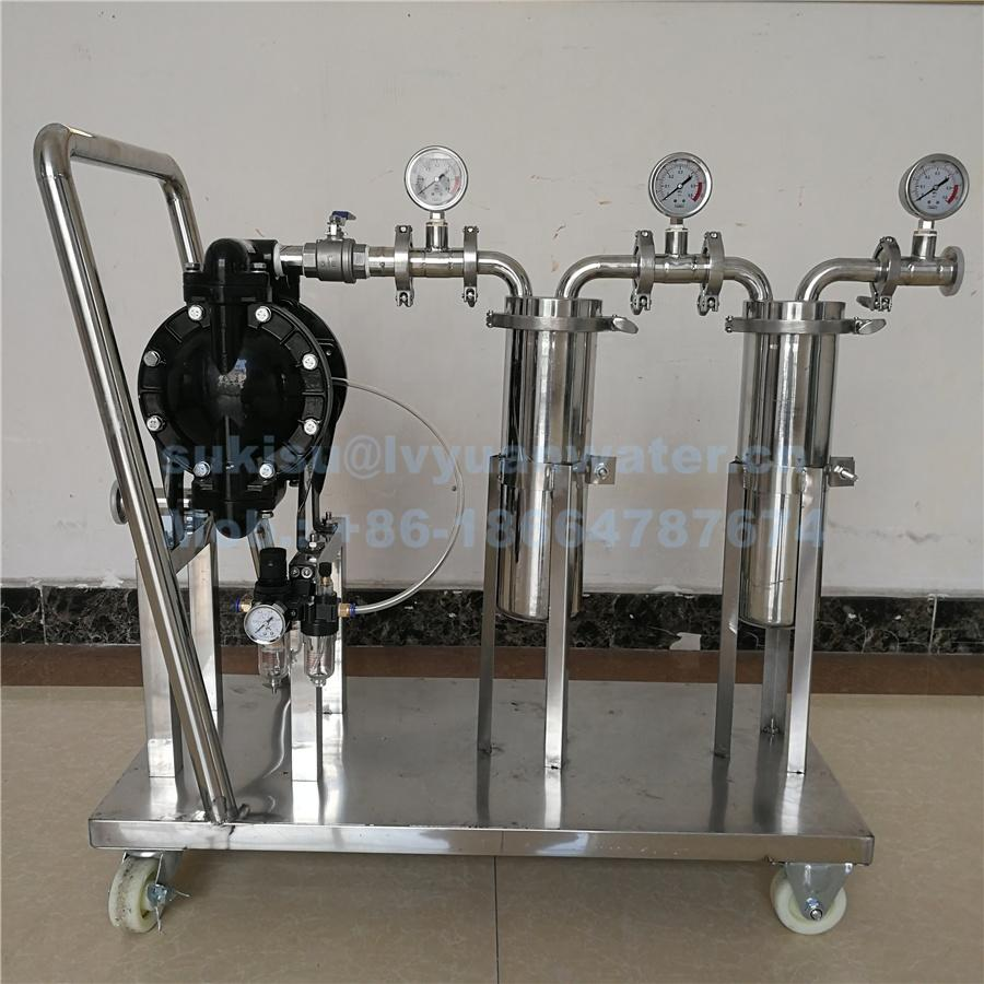 Guangzhou Factory Custom stainless steel microporous oil filter with cart for water and alcohol filtration