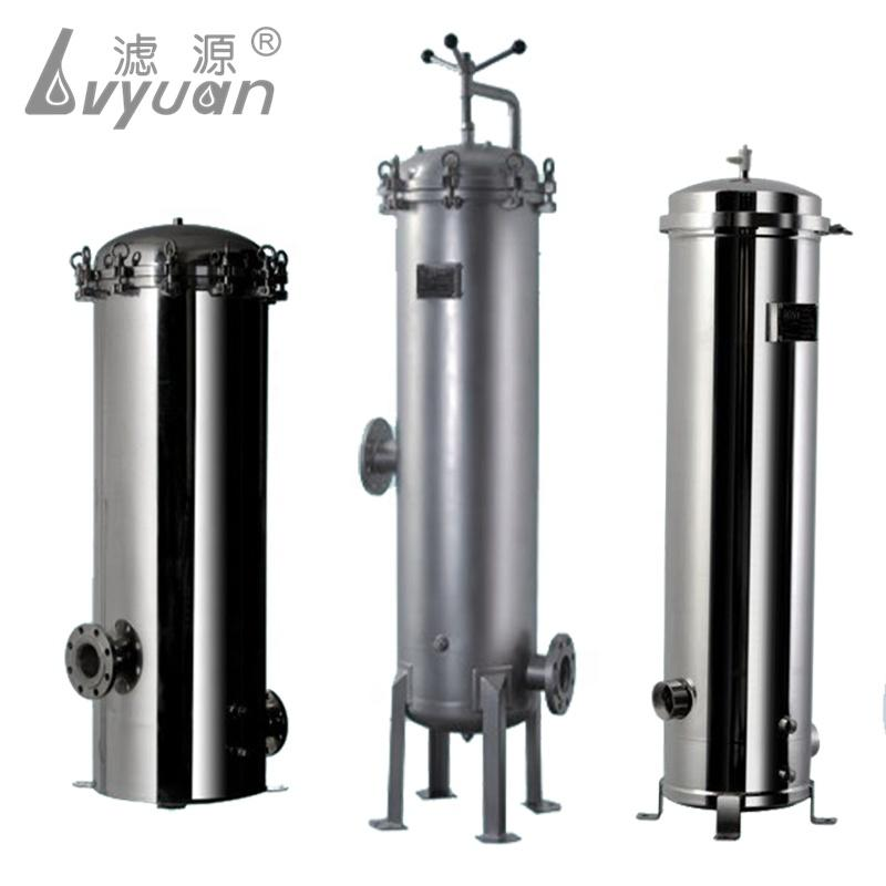 1 3 5 7 element round cartridge filter tank 10 20 30 40 inch with stainless steel housing SS 316 304