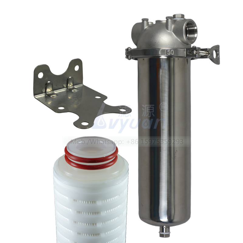 Water purification 10/20/30/40 inch cartridge filter candle type stainless steel SS304 single filter housing 222 with bracket