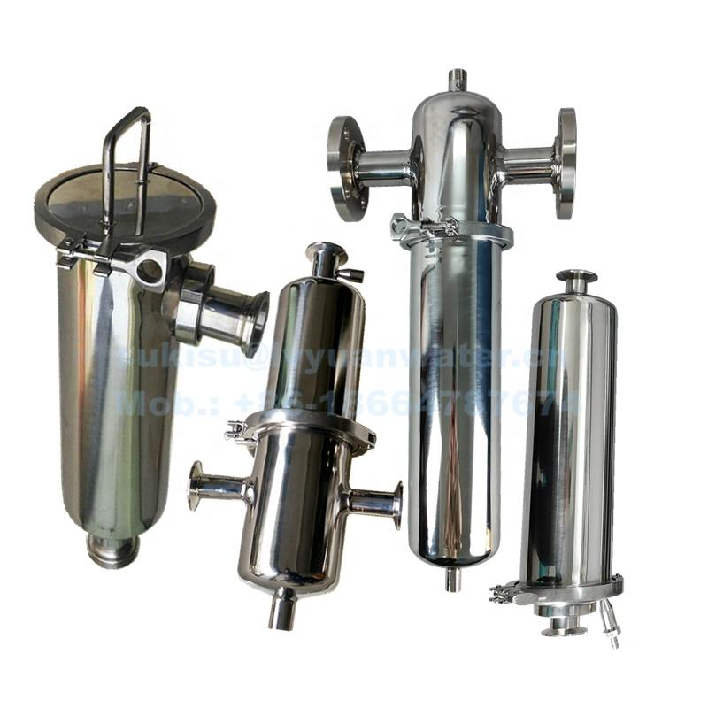 China Manufacture Custom SS 304 316L In-line Stainless Steel Inline filter housing for milk oil gas air water purification