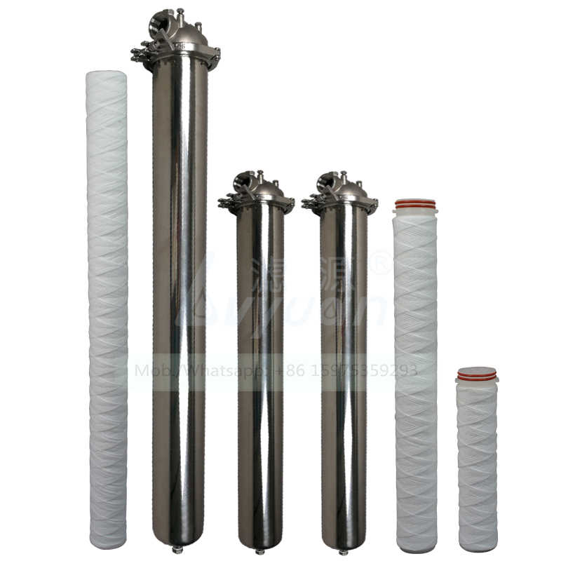 Industrial 1R liquid treatment 20 30 inch SS304 316L stainless steel housing for 5 micron single housing water filter cartridge