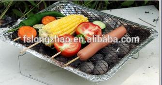 Promotional mini charcoal bbq grills disposable instant aluminium bbq