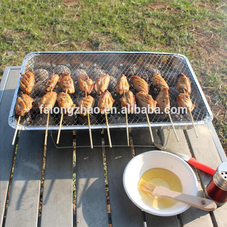 500gram charcoal britteque disposable instant mini bbq grill
