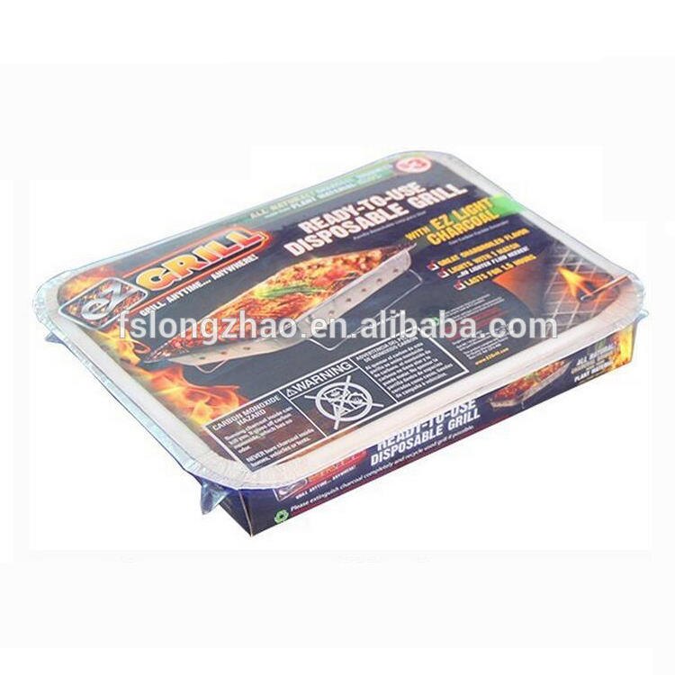 Aluminum barbecue instant grill disposable bbq grill in foil tray