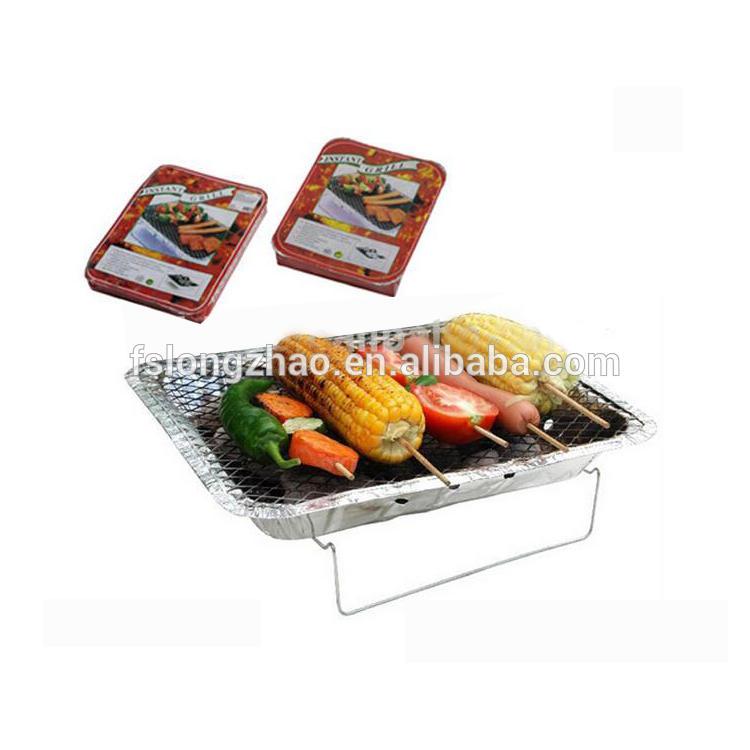 MIni 1000g barbecue aluminum disposable bbq charcoal grill