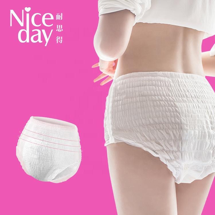 OEM cotton period panties maximum protection lady sanitary napkin pants