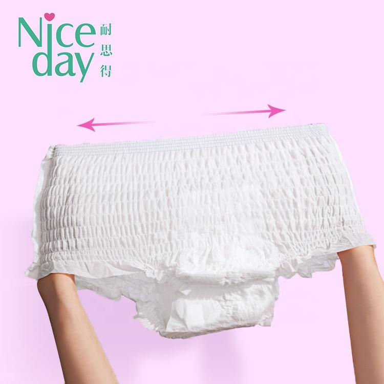 Cotton period panties for business trip chlorine-free sanitary napkin pants