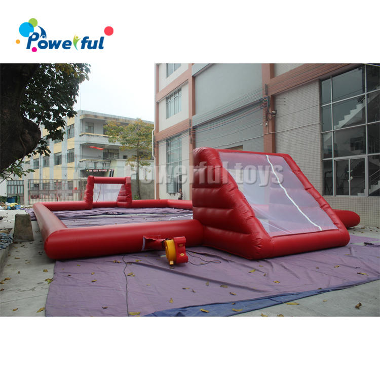 Hot sales new style outdoor inflatable human soccer field football pitch