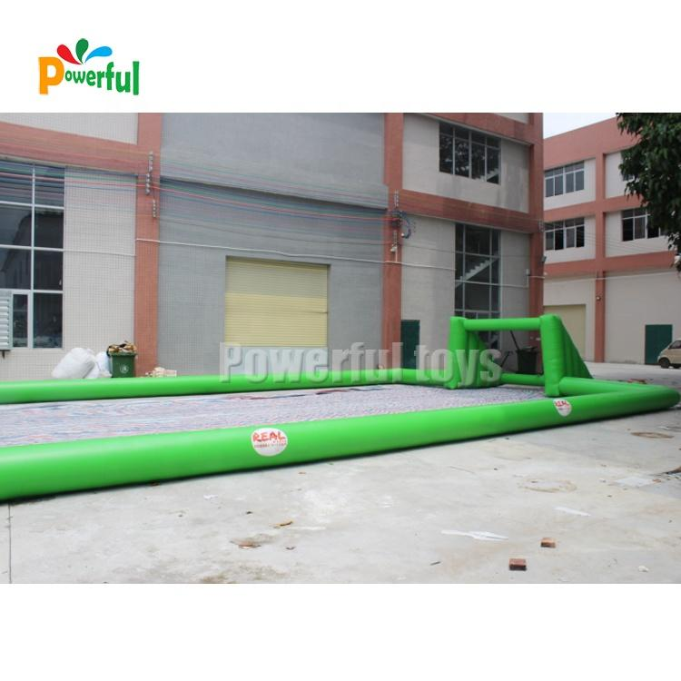 Ready to ship Customized size Portable Inflatable Football Court Soap Soccer Field