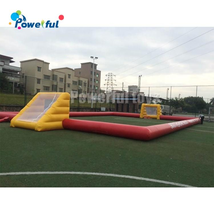 Commercial Inflatable Football Field Without Base Inflatable Soccer Court For Sport Game