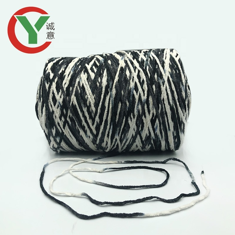 super soft feeling dye patternchenille yarn for Weaving sock / yarns knitting hand velvetyarn for blanket