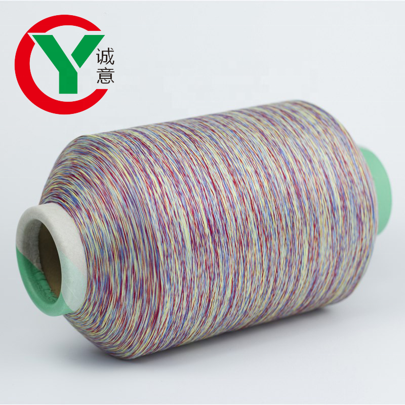 China factory hot sale 100%Polyester dope dye yarn used for fabric wholesale