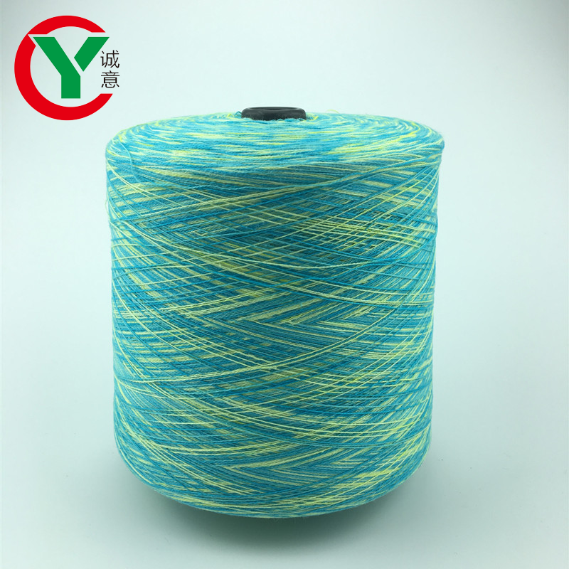 100% gradient cotton yarn for machine weave T-shirt / space dye pattern knitting yarns cotton