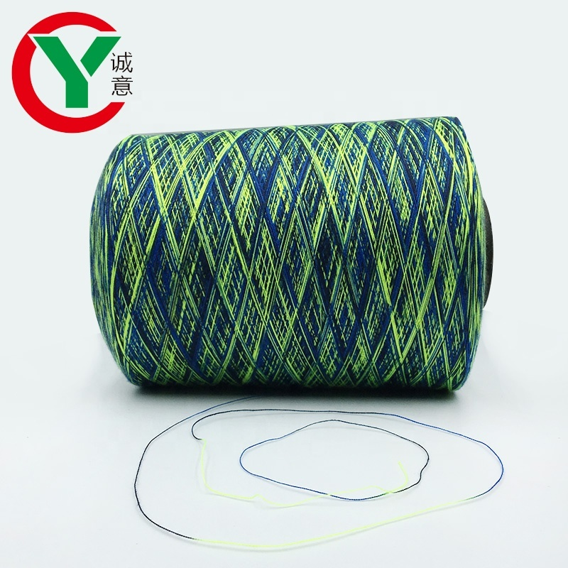 high tenacityring spun 100% polyester space dyed colorful yarns suitable forfabric / yarn cake