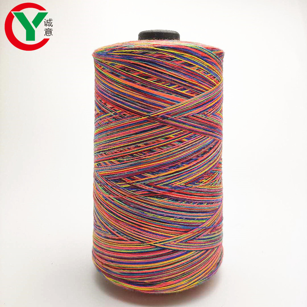 100% polyester 2/20s colorfulspace dyed yarn for weaving