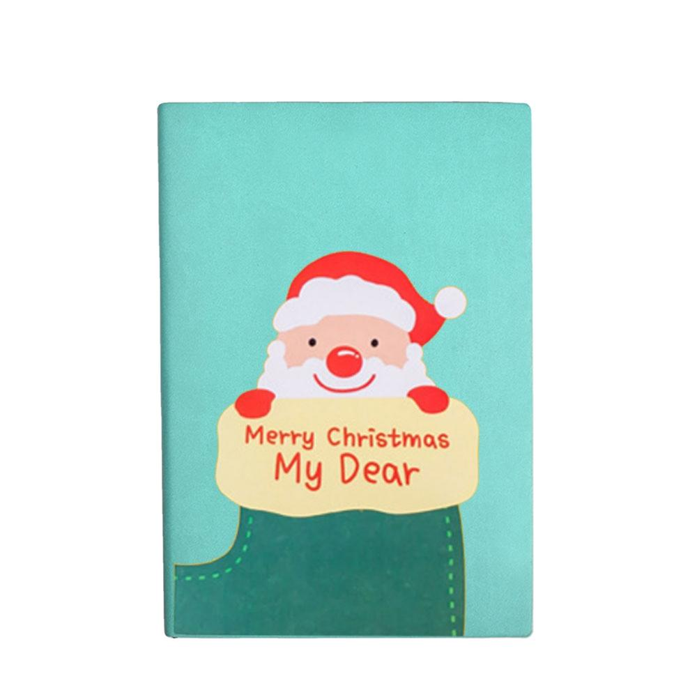 A5 Children's Christmas School Soft Covers Books PU Leather Using For Notebook