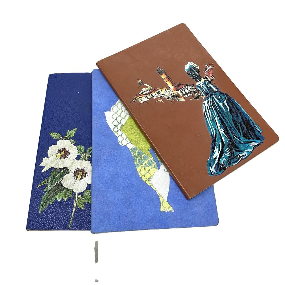 Custom Special Good Quality Soft Cover Gold Foil PU Leather Notebook