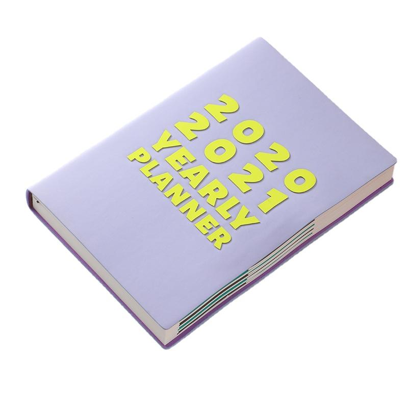 2021-2022 Planner Monthly Agenda Personalized Name PU Notebook With Glitter